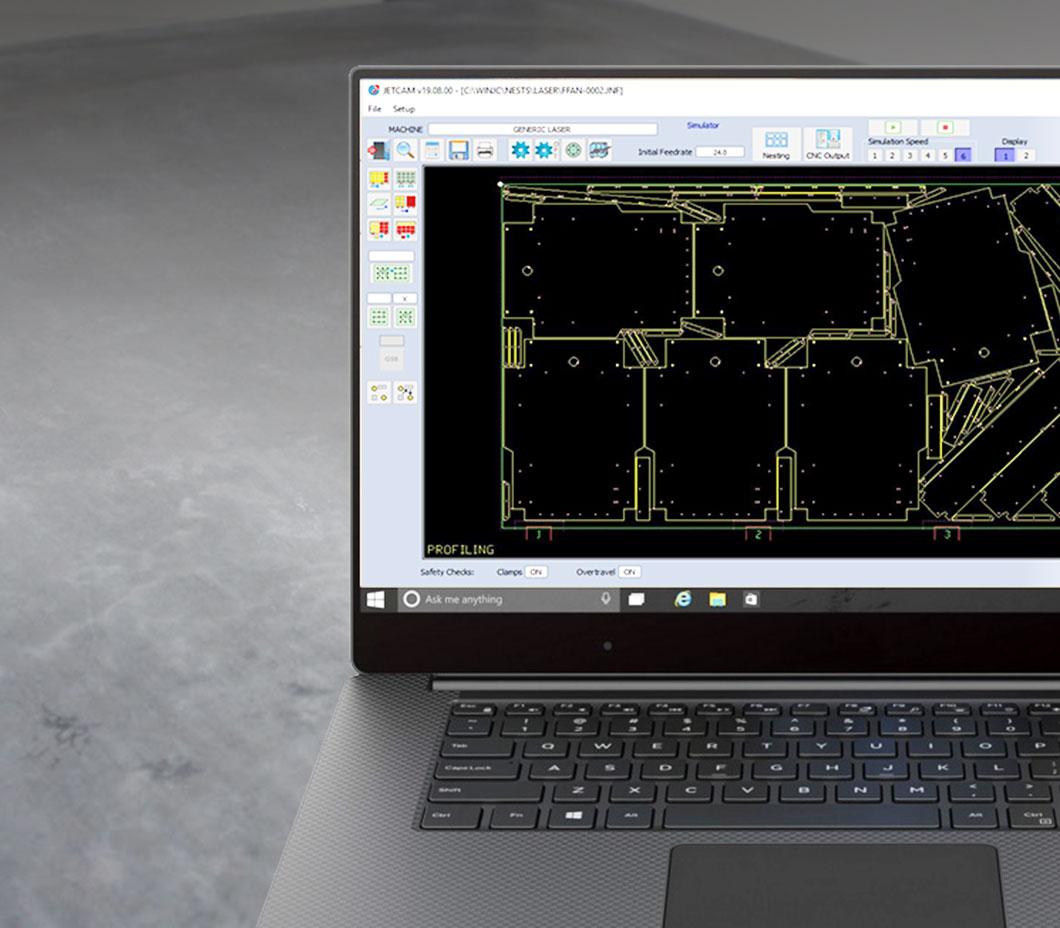 Software JetCam CAD/CAM